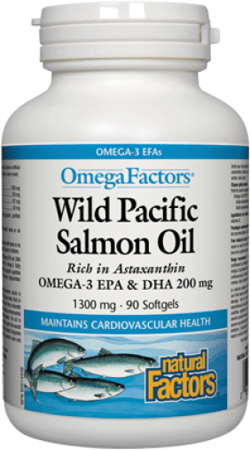 Wild Pacific Salmon Oil (1300 mg) 90 softgels
