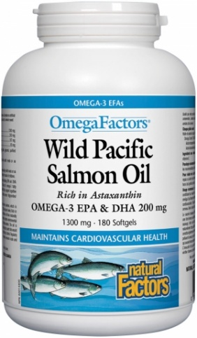 Wild Pacific Salmon Oil (1300 mg) 180 softgels