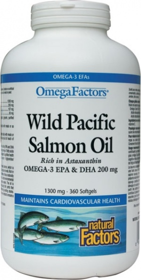 Wild Pacific Salmon Oil (1300 mg) 360 softgels